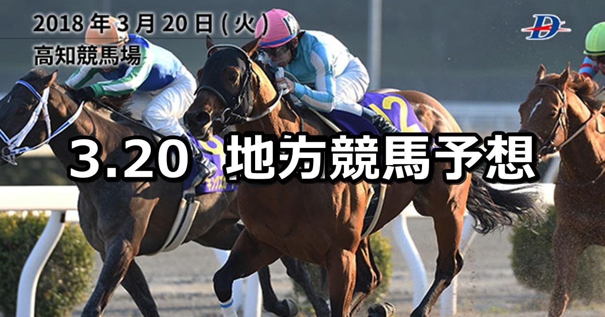 【黒船賞/弥生特別】3/20(火)地方競馬予想(高知&浦和)