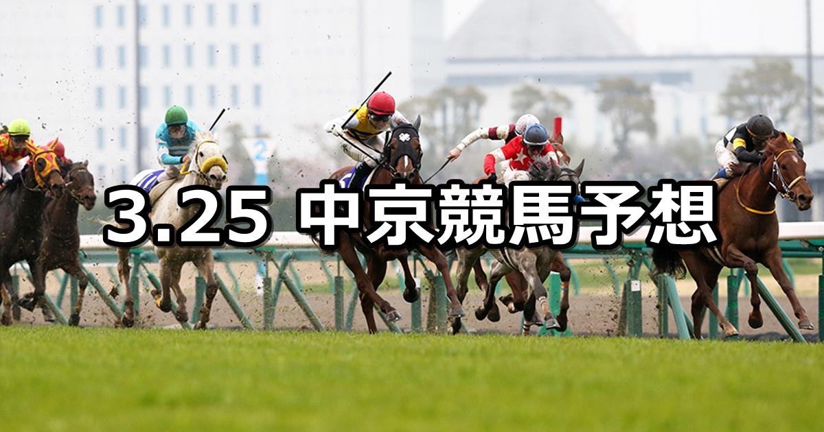 【高松宮記念】3/25(日) 中京競馬予想