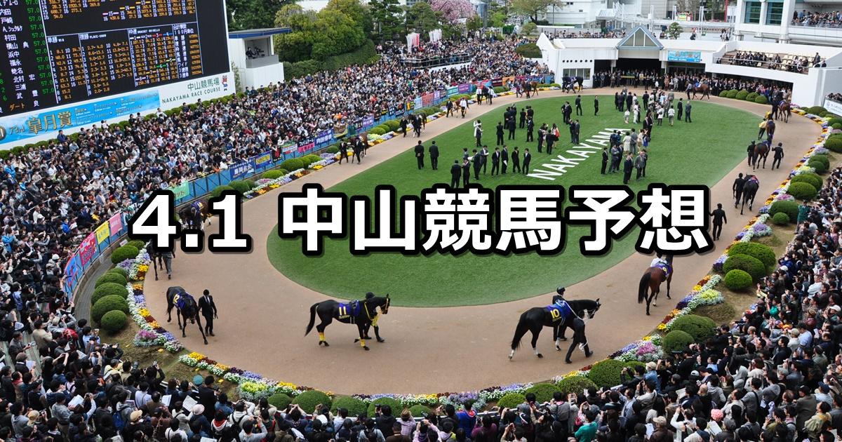 【船橋ステークス】4/1(日) 中山競馬予想
