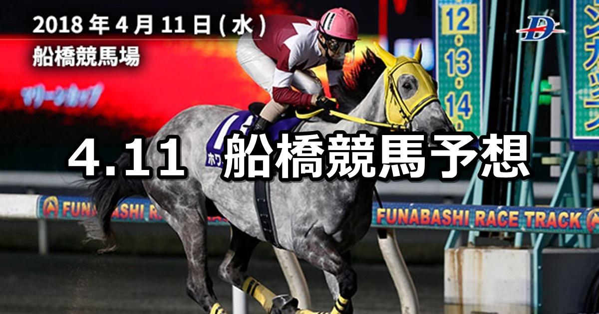 【マリーンカップ】4/11(水)地方競馬予想(船橋競馬)