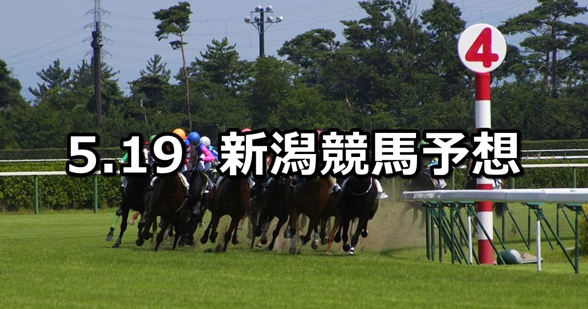 【大日岳特別】5/19(土) 新潟競馬予想
