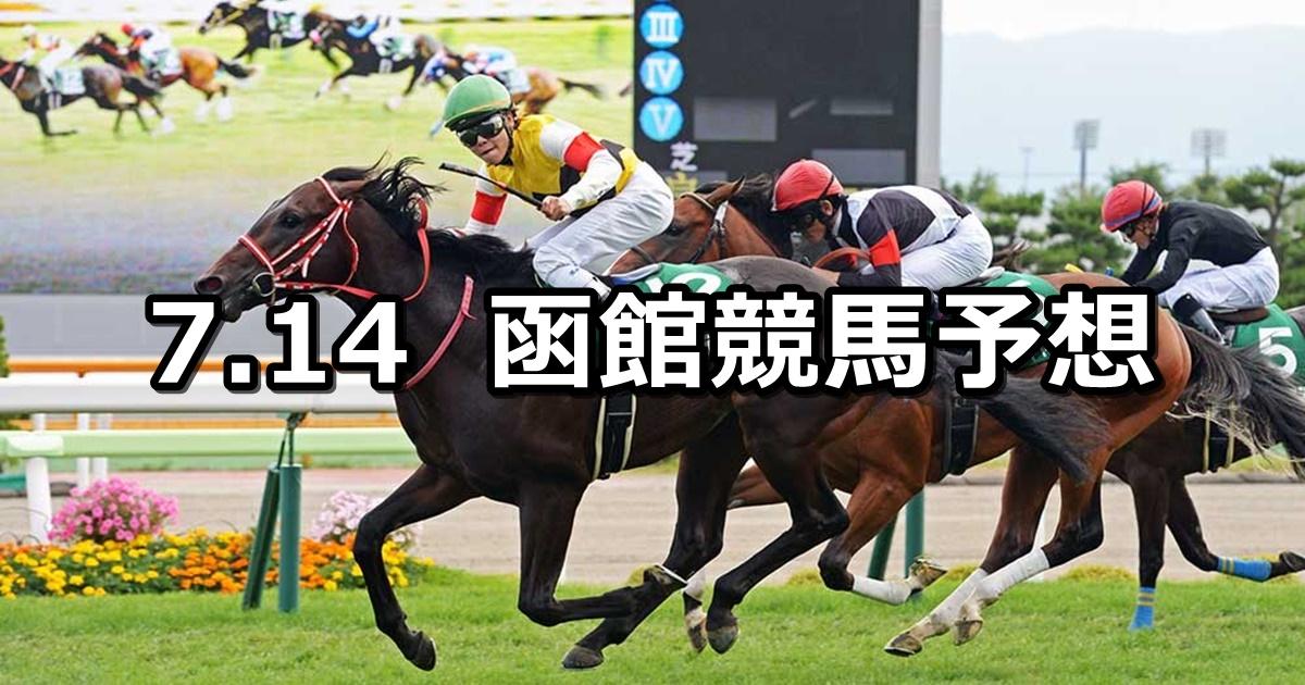 【STV杯】7/14(土) 函館競馬 穴馬予想