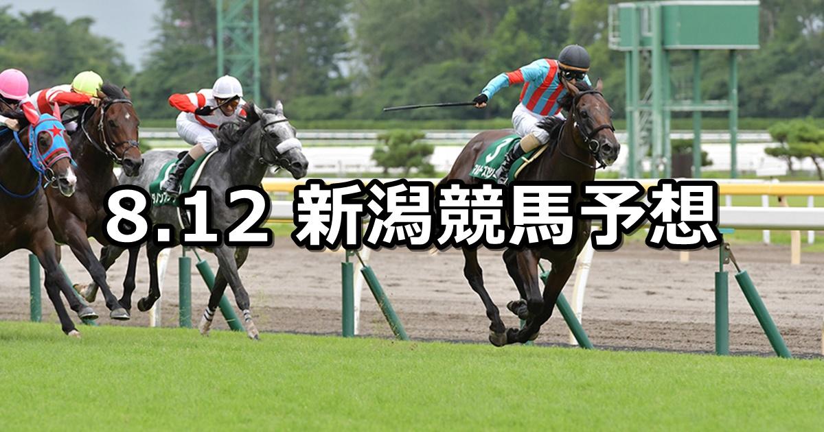 【関屋記念】8/12(日) 新潟競馬 穴馬予想