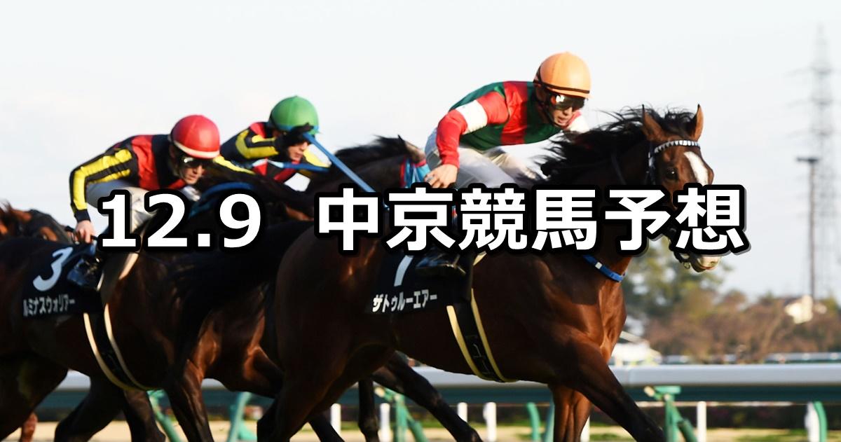 【名古屋日刊スポーツ杯】12/9(日) 中京競馬 穴馬予想