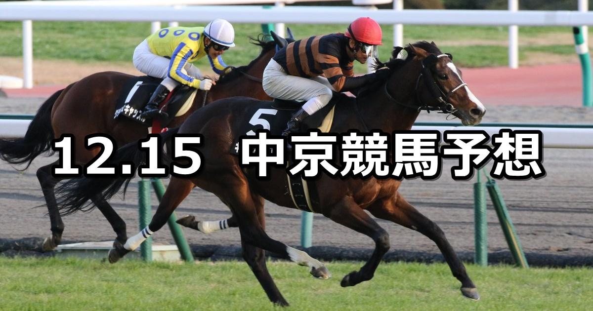 【中京日経賞】12/15(土) 中京競馬 穴馬予想