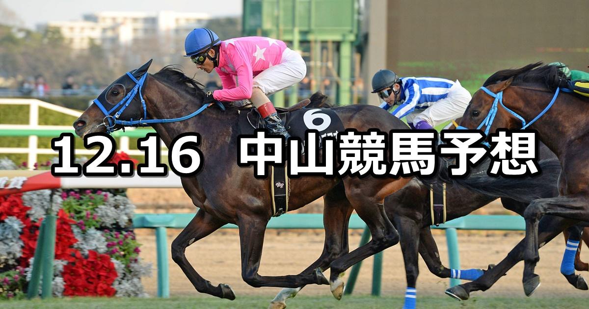 【ディセンバーステークス】12/16(日) 中山競馬 穴馬予想