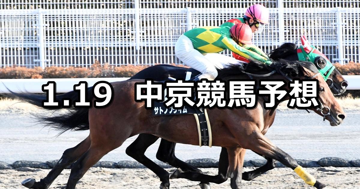 【中京スポニチ賞】2019/1/19(土) 中京競馬 穴馬予想