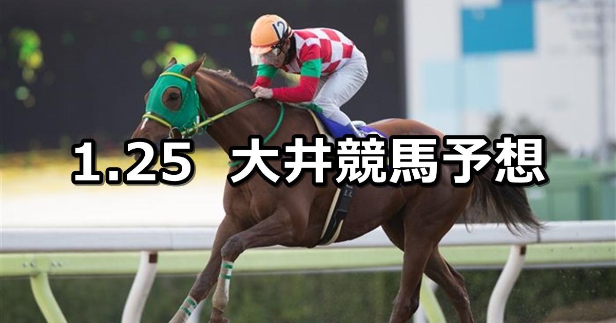 【ガーネット賞】2019/1/25(金)地方競馬 穴馬予想(大井競馬)