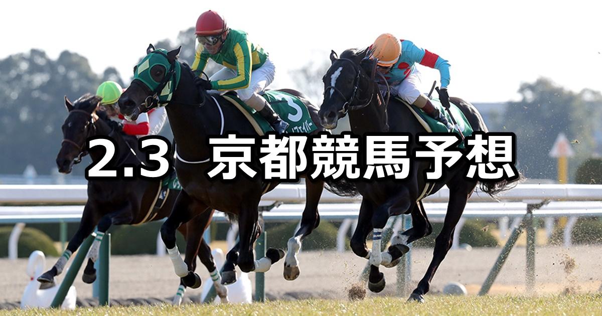 【きさらぎ賞】2019/2/3(日) 京都競馬 穴馬予想