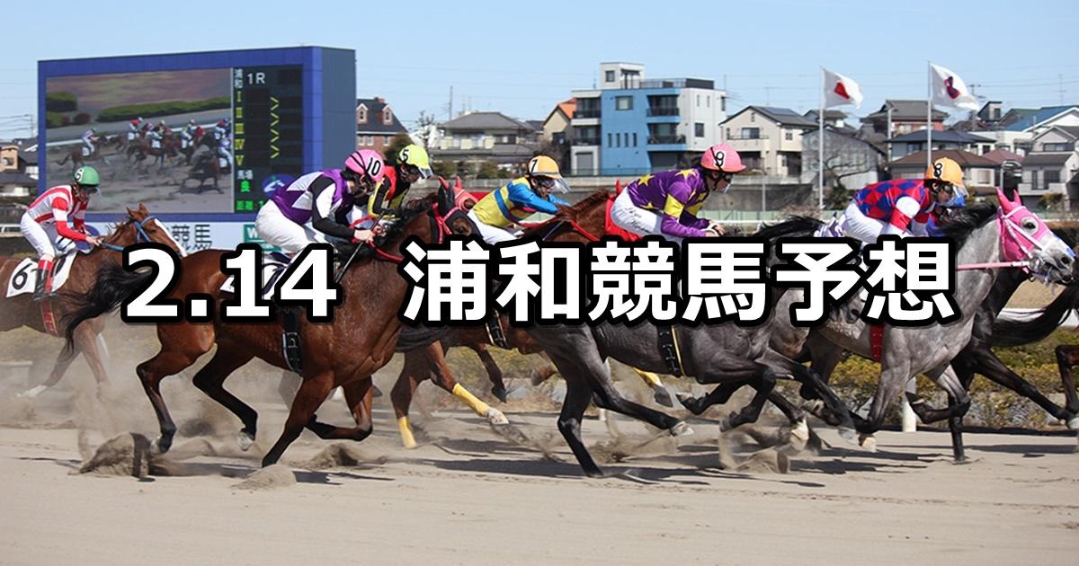【如月特別】2019/2/14(木)地方競馬 穴馬予想(浦和競馬)