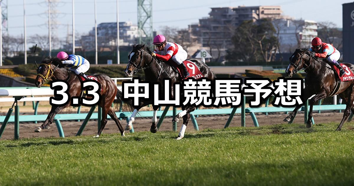 【弥生賞】2019/3/3(日) 中山競馬 穴馬予想