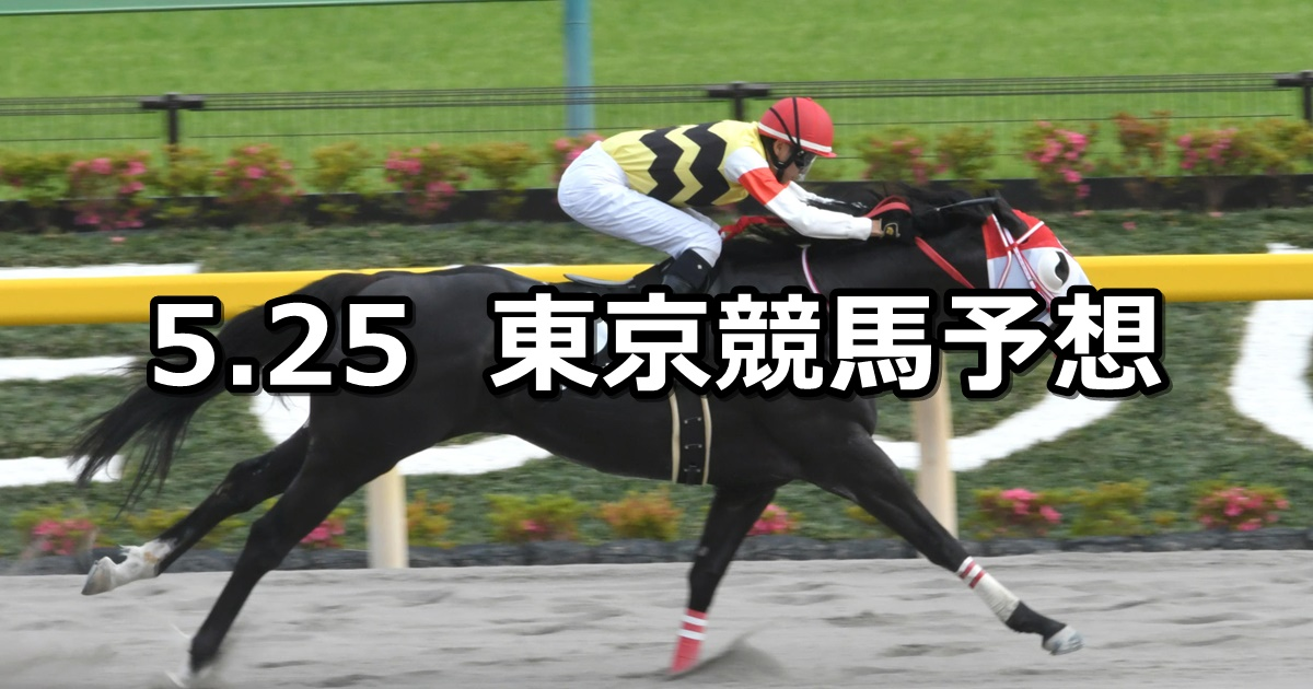 【欅ステークス】2019/5/25(土) 東京競馬 穴馬予想