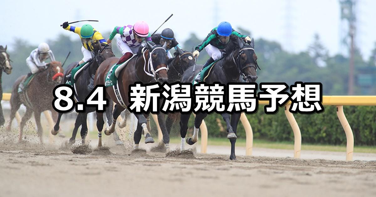 【レパードステークス】2019/8/4(日) 新潟競馬 穴馬予想