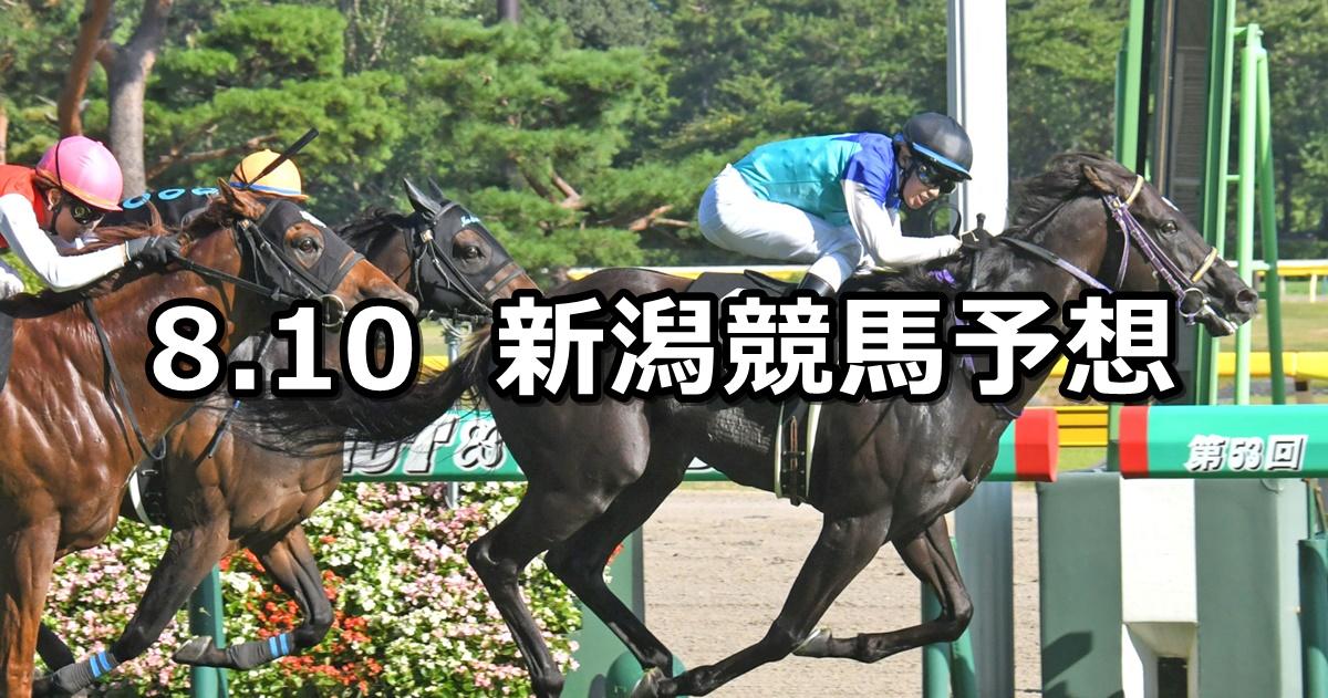【新潟日報賞】2019/8/10(土) 新潟競馬 穴馬予想