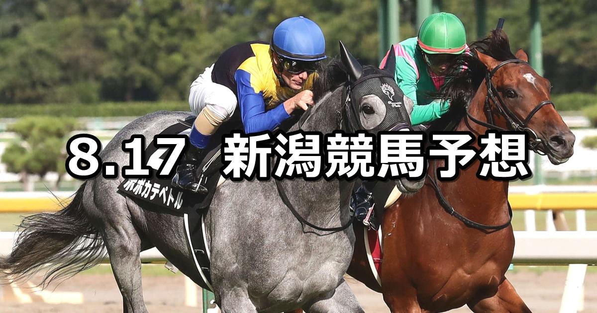 【日本海ステークス】2019/8/17(土) 新潟競馬 穴馬予想