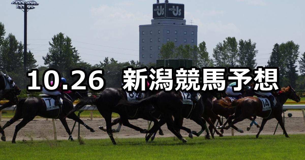 【柏崎特別】2019/10/26(土) 新潟競馬 穴馬予想