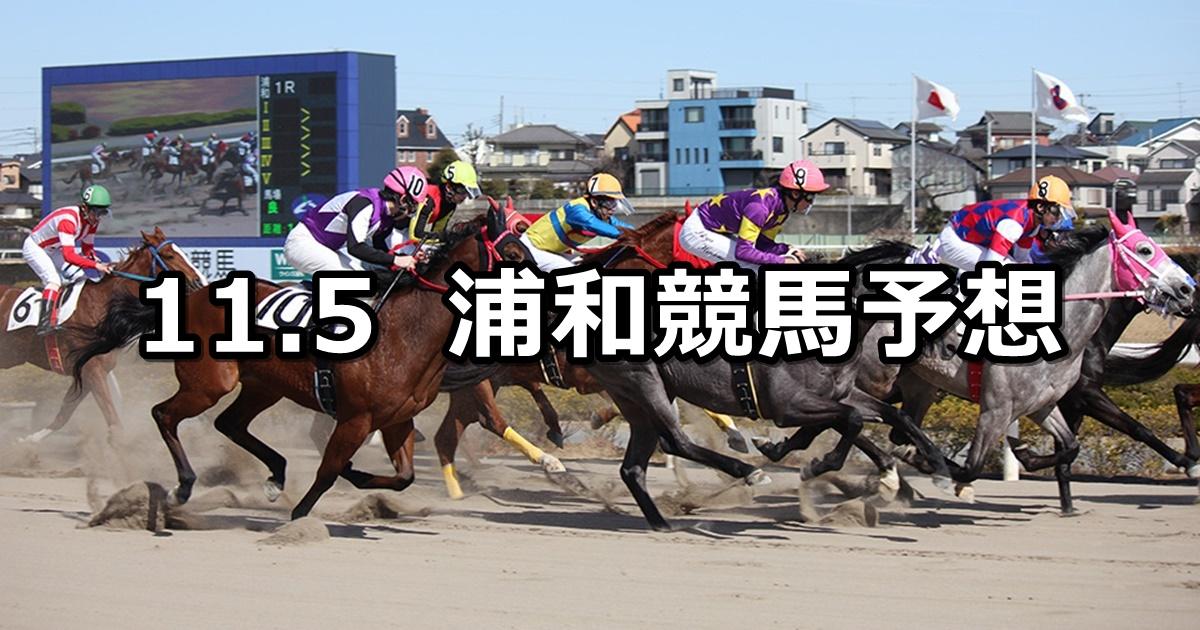【神楽月特別】2019/11/5(火)地方競馬 穴馬予想(浦和競馬)