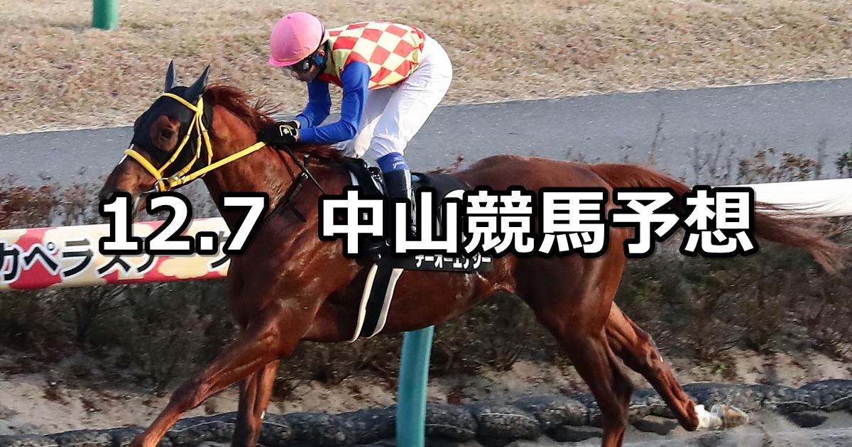 【師走ステークス】2019/12/7(土) 中山競馬 穴馬予想