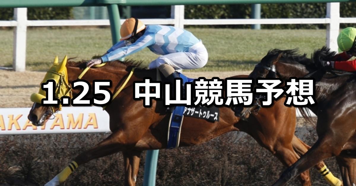 【アレキサンドライトステークス】2020/1/25(土) 中山競馬 穴馬予想