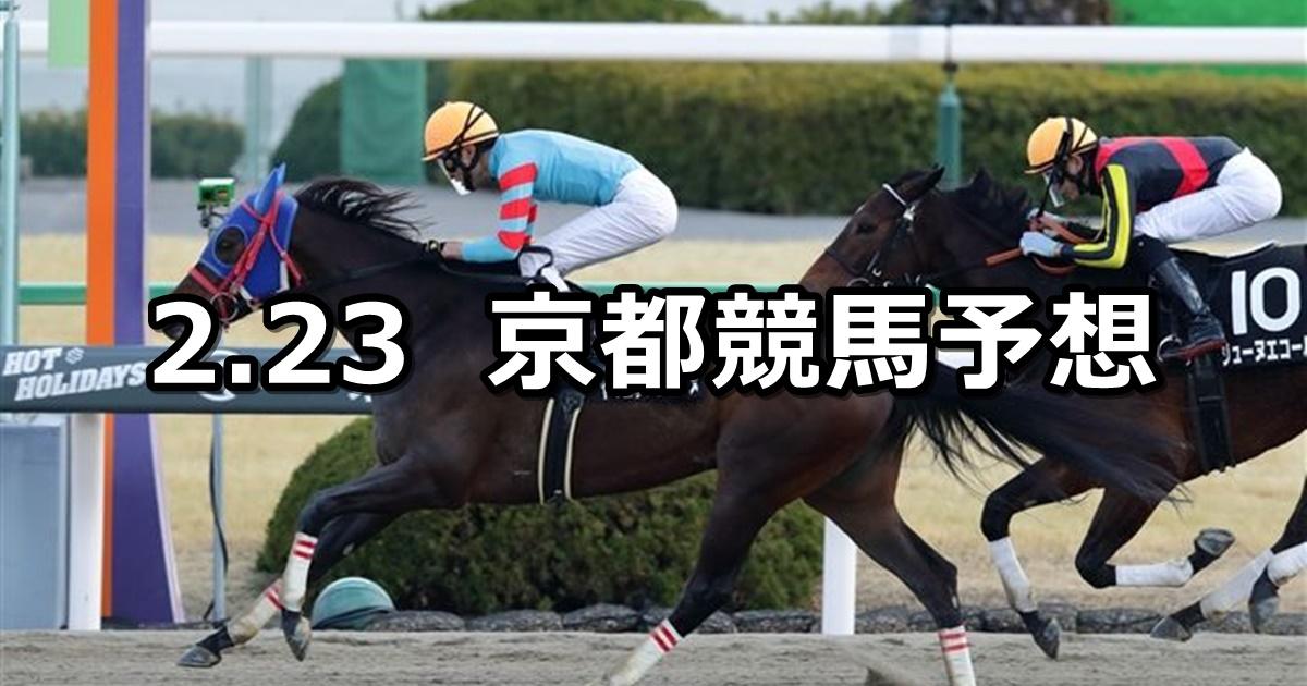 【大和ステークス】2020/2/23(日) 京都競馬 穴馬予想