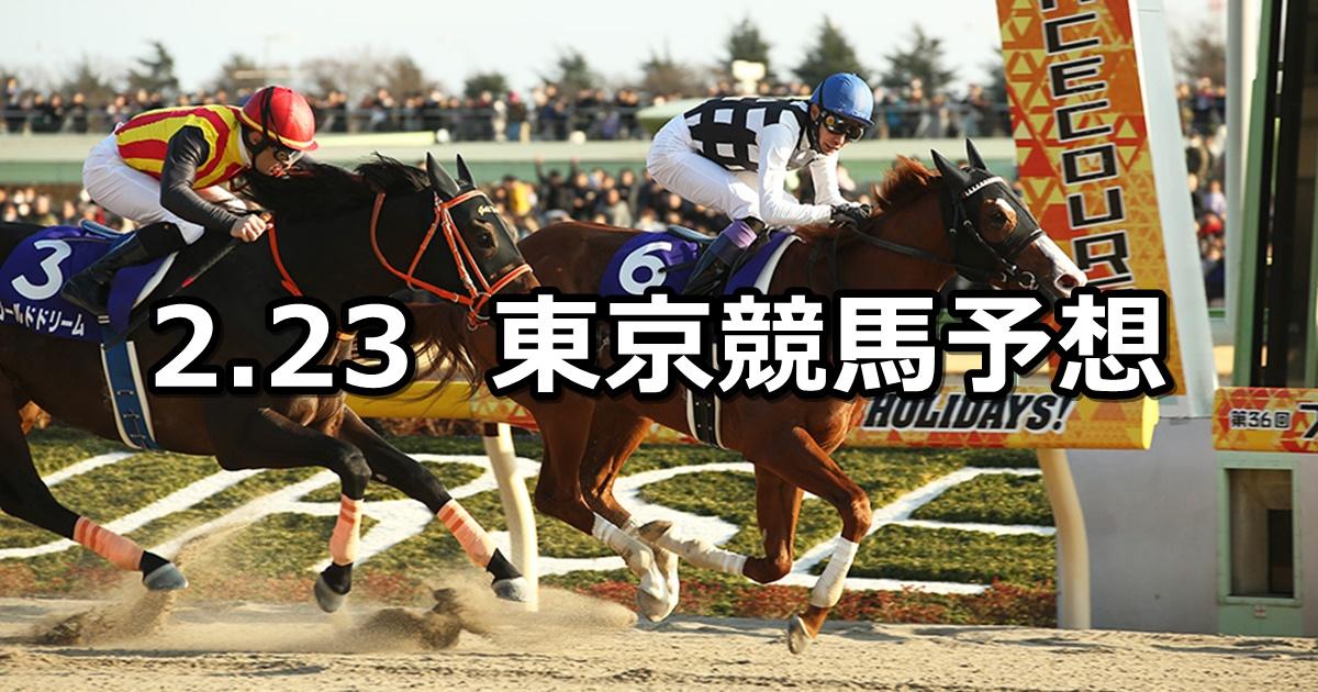 【フェブラリーステークス】2020/2/23(日) 東京競馬 穴馬予想