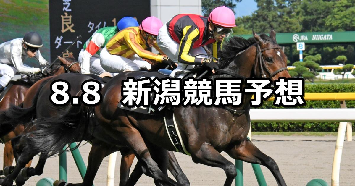 【佐渡ステークス】2020/8/8(土) 新潟競馬 穴馬予想