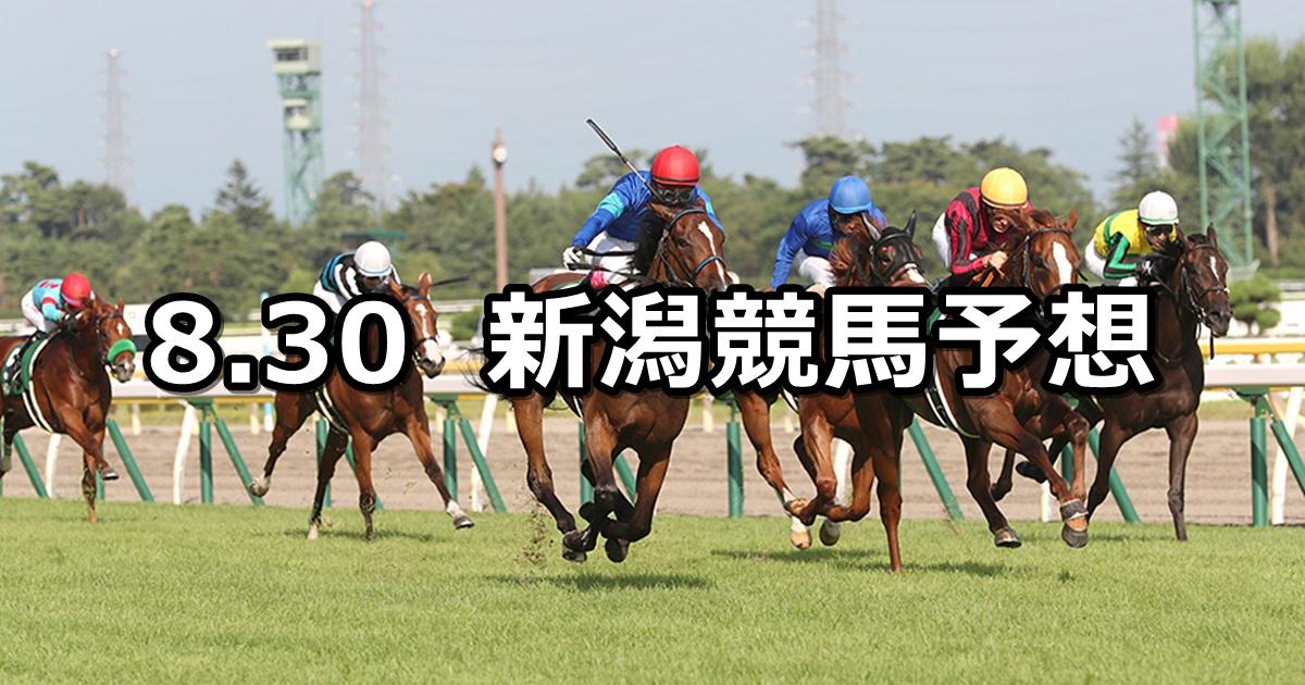 【新潟2歳ステークス】2020/8/30(日) 新潟競馬 穴馬予想