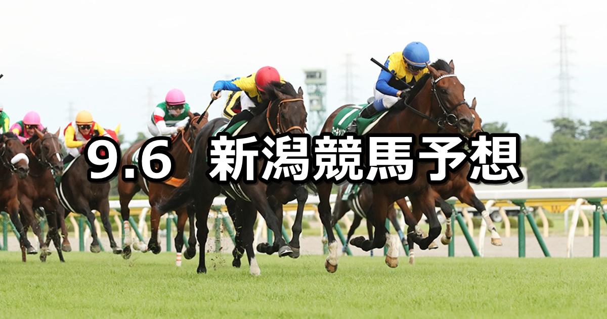 【新潟記念】2020/9/6(日) 新潟競馬 穴馬予想