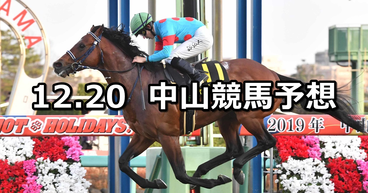 【ディセンバーステークス】2020/12/20(日) 中央競馬 穴馬予想(中山競馬)
