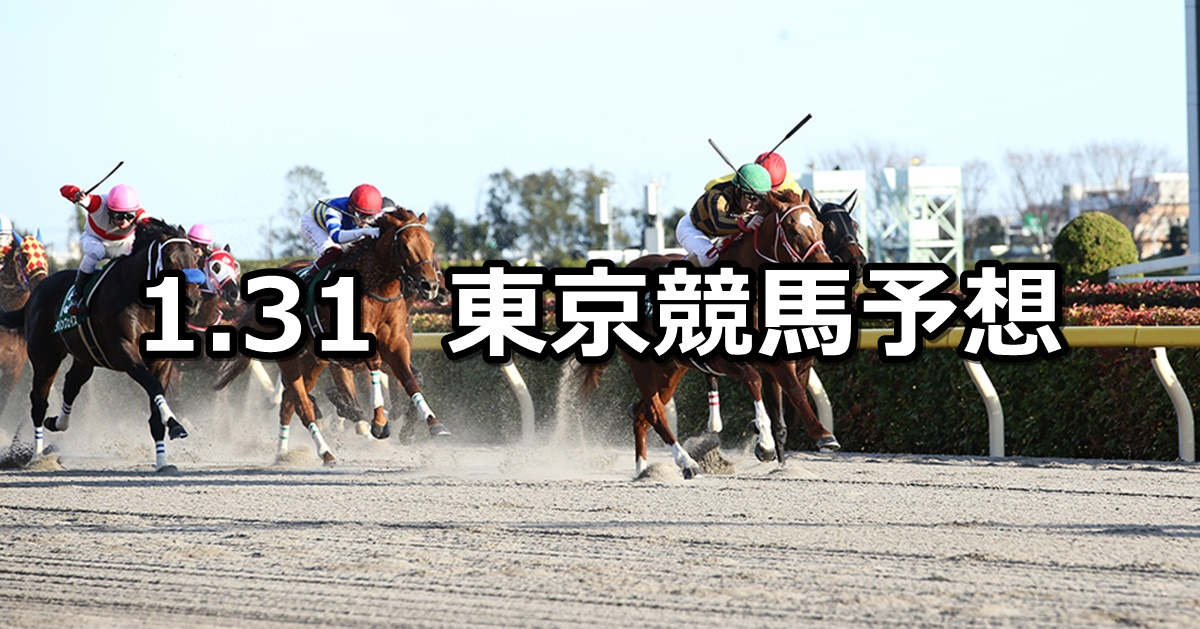 【根岸ステークス】2021/1/31(日) 中央競馬 穴馬予想(東京競馬)