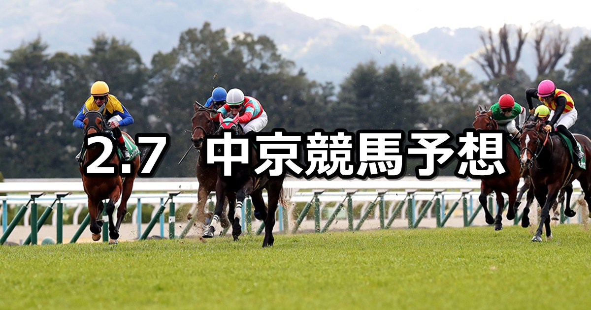 【きさらぎ賞】2021/2/7(日) 中央競馬 穴馬予想(中京競馬)