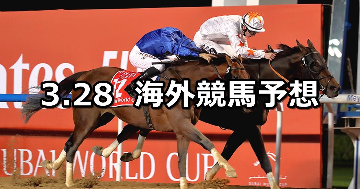 【ドバイワールドカップデー】2021/3/28(日) 海外競馬 穴馬予想