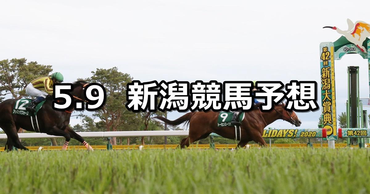 【新潟大賞典】2021/5/9(日) 中央競馬 穴馬予想(新潟競馬)