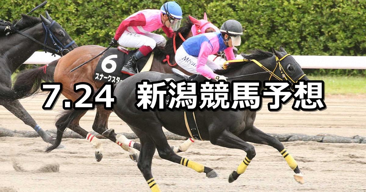 【越後ステークス】2021/7/24(土) 中央競馬 穴馬予想(新潟競馬)