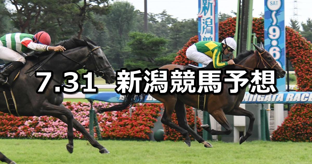 【佐渡ステークス】2021/7/31(土) 中央競馬 穴馬予想(新潟競馬)