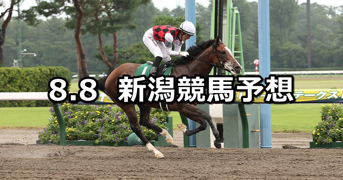 【レパードステークス】2021/8/8(日) 中央競馬予想(新潟競馬)