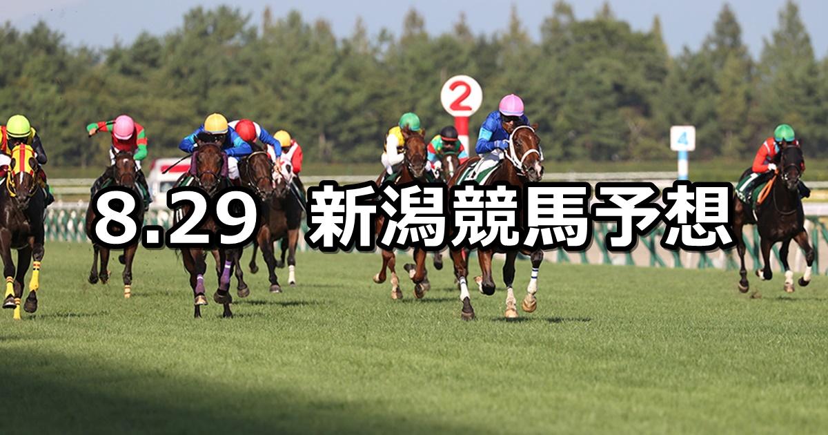 【新潟2歳ステークス】2021/8/29(日) 中央競馬予想(新潟競馬)