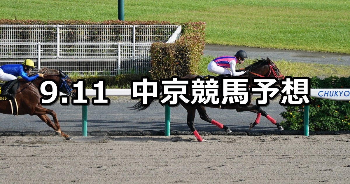 【エニフステークス】2021/9/11(土) 中央競馬予想(中京競馬)